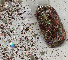 glitter mix acrylic gel nail art    AUTUMN SPLENDER