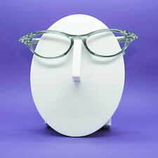 Wicked Pointed Rhinestone Smoky Gray Cat Eye Reading Glasses +1.00