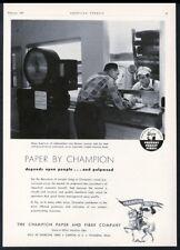 1957 Smokey Bear logo art Champion Paper vintage trade print ad 1