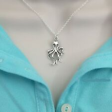 Beautiful Octopus Silver Charm Necklace.
