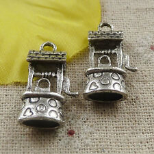 Free Ship 20 pieces tibetan silver wishing well charms 24x14mm #4383