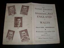 ENGLAND V WALES at ASTON VILLA  1948