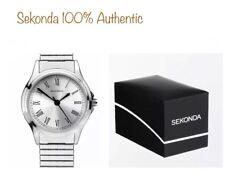 Sekonda Ladies Analogue Expander Bracelet Watch Silver Strap 2701 With Gift Box
