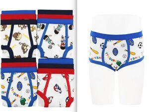 3 6 Boy's Briefs in a Pack Underwear Cotton Blend White W/Prints Size S M L XL