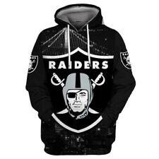 Las Vegas Raiders Hoodies Football Fan's Sweatshirts Casual Pullover Jacket Coat