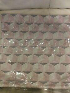 West Elm Pillow Cover NWT Alternating Geo Jacquard Velvet Pink Stone  20x20