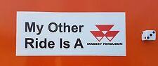 """Massey Ferguson Adesivo Decalcomanie 6"""" x 2.5"""" Trattore FUNNY AGRICOLTURA MOTO QUAD"""