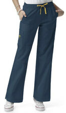 WONDERWINK Sporty Cargo Scrub Pants - S Small Caribbean Blue Style 5214A EUC!