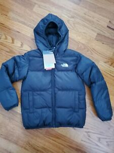 The North Face toddler boy Moondoggy Reversible Down Jacket size 6 T black .