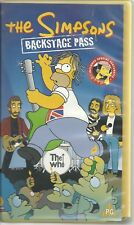 THE SIMPSONS BACKSTAGE PASS  feat. THE WHO PAL VHS
