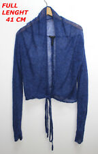 SARAH PACINI BLUE COLOR LADIES WOMAN TOP BLOUSE VEST MARKED ONE SIZE LONG SLEEVE