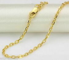"""27.5"""" L Solid Pure 18K Yellow Gold Necklace/ Link Chain Necklace/ 4.2-4.5g"""