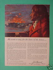 """May 1958 Reader's Digest Ad """"Star Spangled Banner"""" Francis Scott Key"""