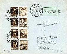ITALIA GNR - Propaganda di guerra - Brescia - 1944 - Busta viaggiata, in tariffa