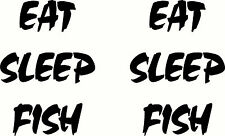 Eat Sleep Fish Decal, Boat, Fishing, Sticker Set of 2, 285 x 200mm each