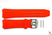 Luminox 9100 F16 22mm Orange Rubber Watch Band Strap w/ 2 Pins