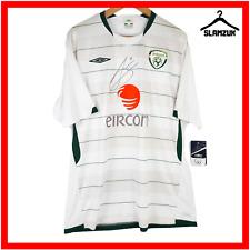 Ireland Football Shirt Umbro XL Signed Away Soccer Jersey by Aiden McGeady 2009