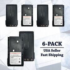 6x KNB15A/H Kenwood Battery Replacement 1800mAh Ni-Mh TK260G TK2107 TK3100 TK388