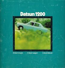 Datsun Nissan 1200 Sunny Early 1970s Australian Market Foldout Sales Brochure