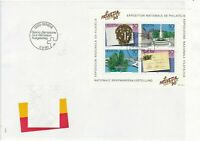 switzerland helvetia 1990 philatelic exhibition large stamps cover ref 20406