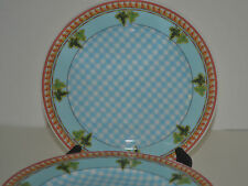 ROSENTHAL IVY LEAVES PASSION BLUE BY VERSACE SET OF 8 SALAD /DESSERT PLATES