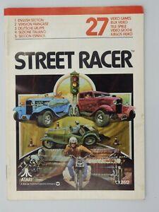 Manual Only Atari 27 Street Racer Booklet Manual Instruction UK Fr Of It Es