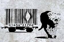 Banksy Barcode cage Tiger poster  A2 SIZE