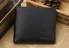 RFID SAFE Blocking Soft BROWN Leather Bifold Wallet Contactless Card Protection