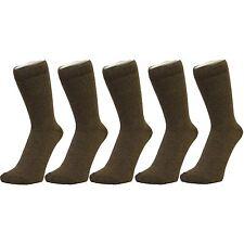 Plain Brown Ankle Socks (Size: 4-7), 6 PACK