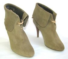 IRO - BOTTINES LOW BOOTS A TALONS CUIR DAIM BEIGE 37 - EXCELLENT ETAT