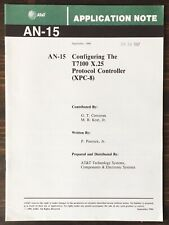 At&T - Configuring The T7100 X.25 Protocol Controller Application Note (1986)