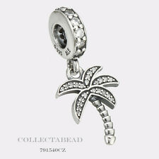 Authentic Pandora Silver Dangle Sparkling Palm Tree Clear CZ Bead 791540CZ