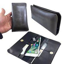 PHICOMM ENERGY 2 - Handy Geldbörse Schutz hülle Etui - P1 PU Schwarz