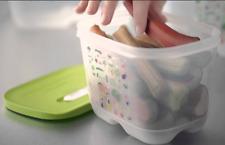 Tupperware Fridgesmart Vegetable Container - Crisper 1-3/4 QT Yellow Seal New