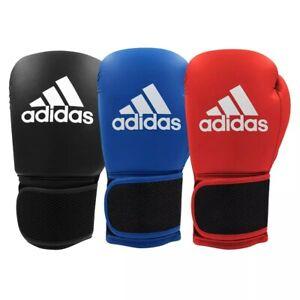 adidas Hybrid 25 Kids Boxing Gloves Kickboxing Black Red Blue Sparring Ladies