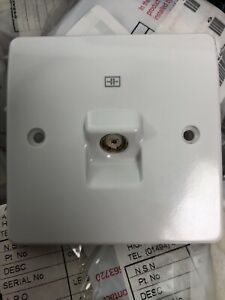 TV/FM Co-Axial socket outlet K3521 WHI