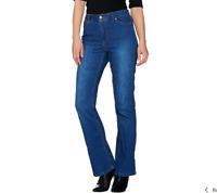 Isaac Mizrahi Live! TRUE DENIM Regular Boot Cut Jeans Medium Indigo Regular 4