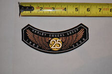 25 Years 2008 Hog Harley Davidson Owners Group MotorCycle Cloth Jacket Patch
