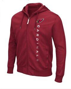 G-III Sports Arizona Cardinals Men's Snap Fleece Full Zip Hoody Sweatshirt