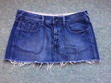 Jack Wills Denim Skirt - Distressed Short Mini Style Size 30