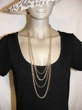 $28 Nordstrom Exclusive Multi-Strand 6-Layer Graduated Chain Goldtone Necklace