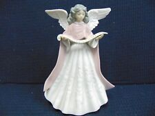 """Lladro 1989 Angel Singer Pink #5831 Tree Topper No Chips Or Cracks 7 1/4"""" Tall"""
