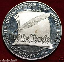 UNCIRCULATED ONE DOLLAR 1987-S USA 200 TH ANNIVERSARY OF CONSTITUTION 1887-1987