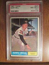 1961 Topps Baseball Gary Bell # 274.  PSA NM-MT 8 (OC)