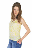 Burberry Top Women's S Yellow Cotton   Floral