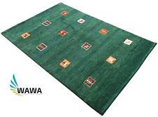 Gabbeh Teppich 120x180 cm Handgeknüpft ~ 100% Wolle ~ grün ~ G16