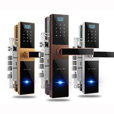 Fingerprint Home Security Door Lock Smart APP Card Mechanical Key Password 5ways
