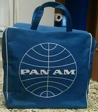 Vintage 1950s 1960s Pan Am Blue Airlines Airplane Flight Travel Bag