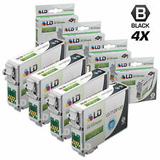 LD © Remanufactured Epson T126120 Set of 4 High Capacity Black Ink