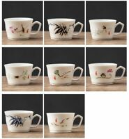 Chinese Style Hand Painted Ceramic Coffee Mug Creative White Porcelain Tea Cups